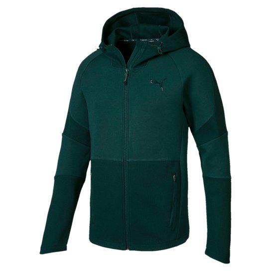 2edf6847d1ecb Jaqueta Puma Evostripe Move Hooded Masculina - Verde - Compre Agora ...