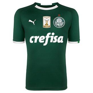 20279f27de Camisa Palmeiras I 19 20 s n° - Torcedor Puma Patch Campeão Brasileiro