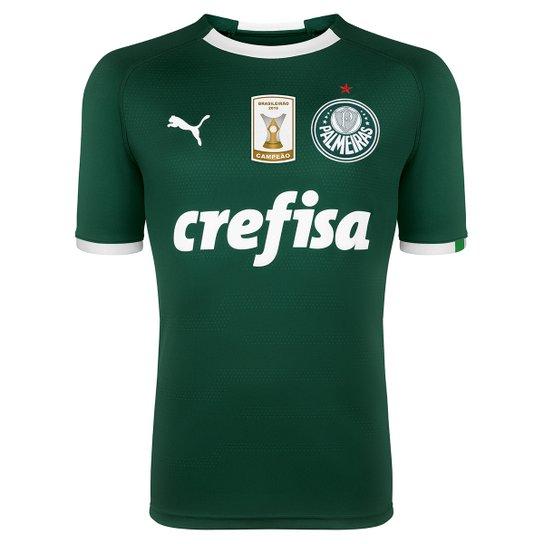 813c68a237878 Camisa Palmeiras I 19 20 s n° - Torcedor Puma Patch Campeão Brasileiro