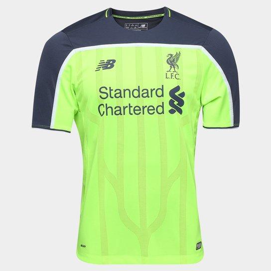 c4a23cf2d6 Camisa Liverpool Third 16/17 s/nº Torcedor New Balance Masculina - Verde