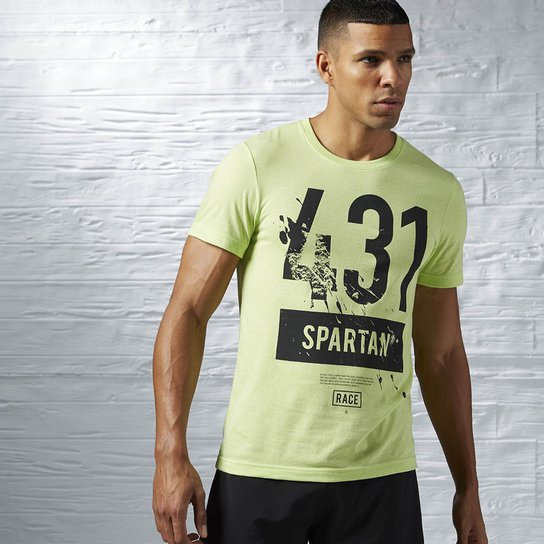 8a85dab69 Camiseta Reebok Spartan Race Sleeve Tri-Blend - Verde