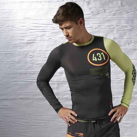 2dbc1aafc Camiseta Reebok Spartan Race Pro Long Sleeve - Verde
