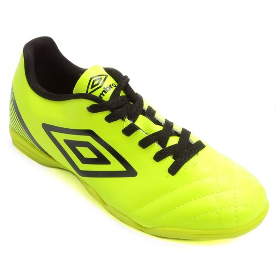 Chuteira Futsal Umbro Striker 3 Masculina - Verde Limão+Preto bd18f13fd26eb