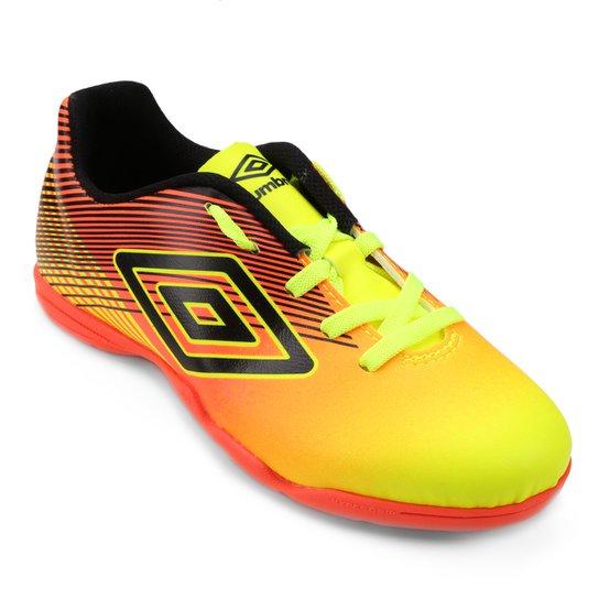 Chuteira Futsal Infantil Umbro Slice 3 - Amarelo e Laranja - Compre ... 60cd3946e7f77