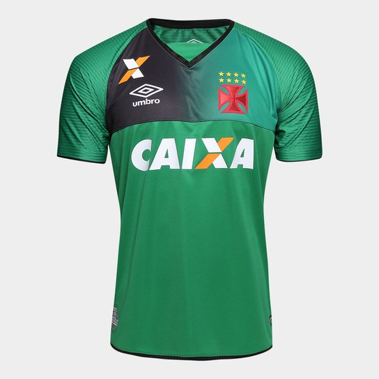 27f2909ae9c21 Camisa Vasco Goleiro 17 18 s nº Torcedor Umbro Masculina - Verde e ...