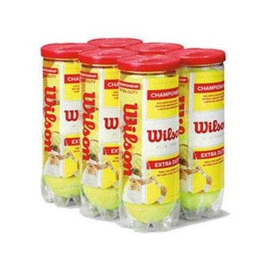 00ddac3f7d Bola de Tênis Wilson Championship - Pack com 6 tubos - Verde ...
