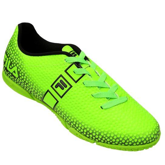 f7e36f3505 Chuteira Futsal Fila Nimble - Verde Limão+Preto
