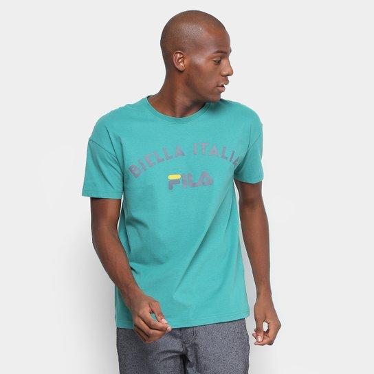 Camiseta Fila Estampada Authentic Masculina - Verde - Compre Agora ... 10cce0ab857ad