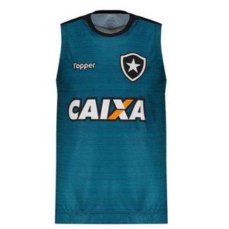 Regata Machão Topper Botafogo Treino 2017 Atleta 4debe5eb30b