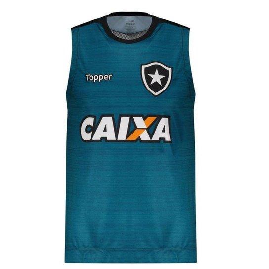 70e5f0303a Regata Machão Topper Botafogo Treino 2017 Atleta - Verde - Compre ...