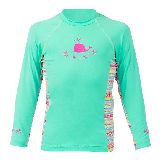 3ee5b8b038 Camiseta Lycra Infantil Mormaii - Verde - Compre Agora