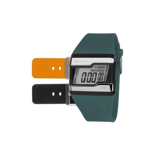 f11f048ef5f Relógio Mormaii Digital Acquarela Colors Troca Pulseira - Verde+Preto