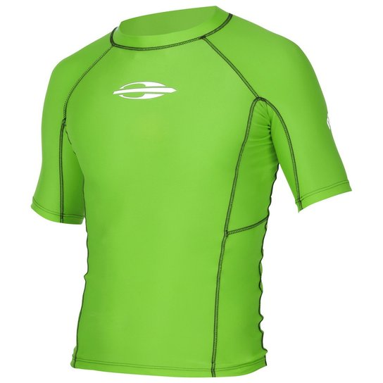 dcc6c14c4c1bb Camisa Manga Curta Uv Gromm Lycra® 0.5Mm Mormaii Infantil - Verde ...
