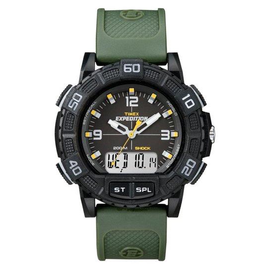 107e652da Relógio Timex Masculino Expedition Double Shock T49967WKL TN Verde  T49967WKL TN - Verde