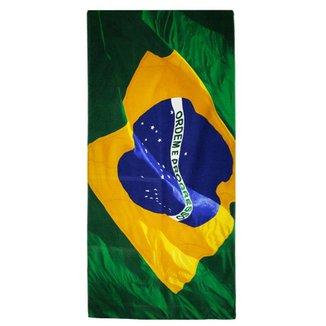 9fcd70f01bd96 Toalha de Banho Brasil Bouton Veludo Bandeira do Brasil