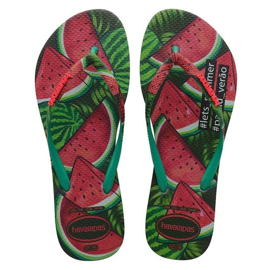 47a3181931 Chinelo Havaianas Slim Paisage - Verde