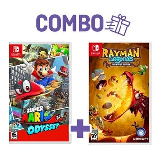 Combo Super Mario Odyssey + Rayman Legends Definit