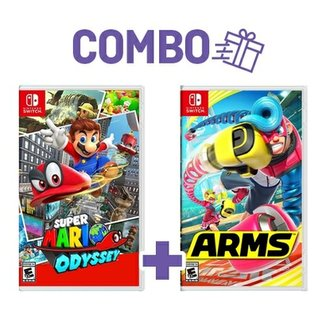 Combo Super Mario Odyssey + Arms - Switch