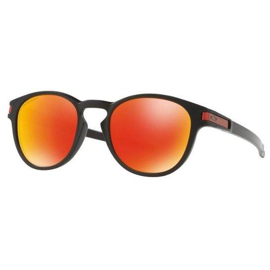Óculos Oakley Latch - Prizm Ruby - Matte Black - Compre Agora   Netshoes 823bac4e0a