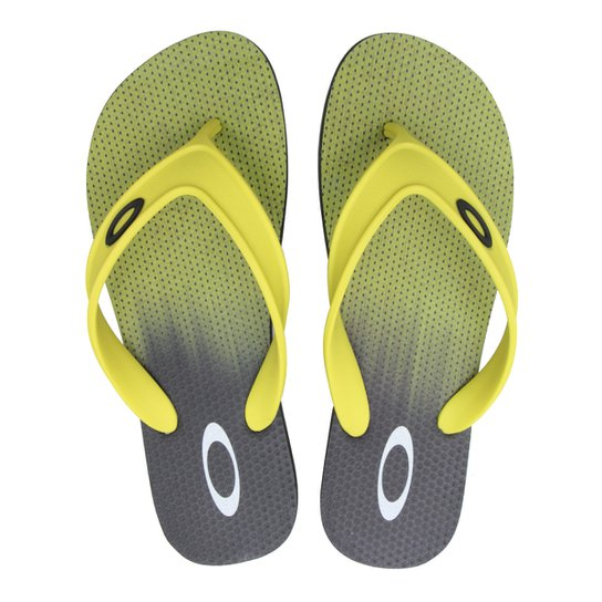 Chinelo Oakley Wave Point Masculino - Preto e Verde Limão - Compre ... 63036e06cd