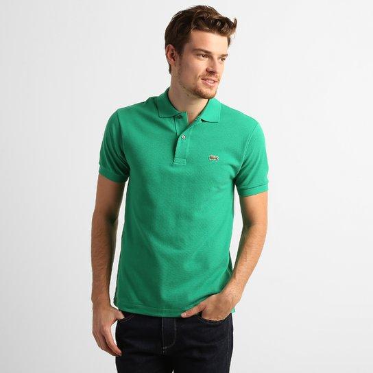 c8d83928206a5 Camisa Polo Lacoste Original Fit Masculina - Verde Limão - Compre ...