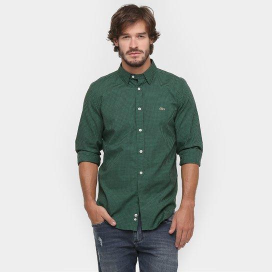 Camisa Lacoste Slim Fit Xadrez Mini - Compre Agora   Netshoes 9f0562fcd7