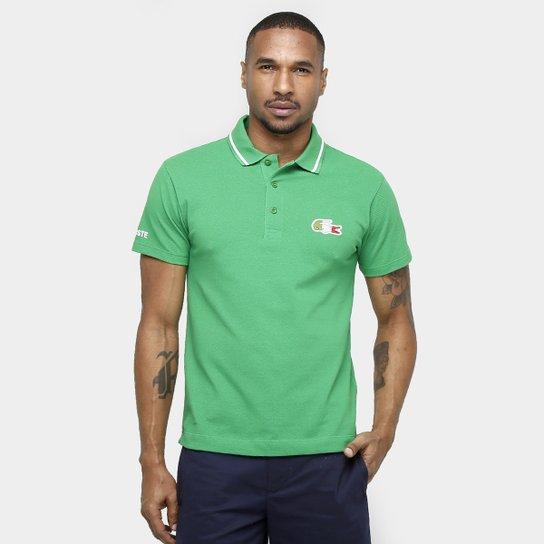 Camisa Polo Lacoste Piquet Olimpíadas - Compre Agora   Netshoes d8d929be20