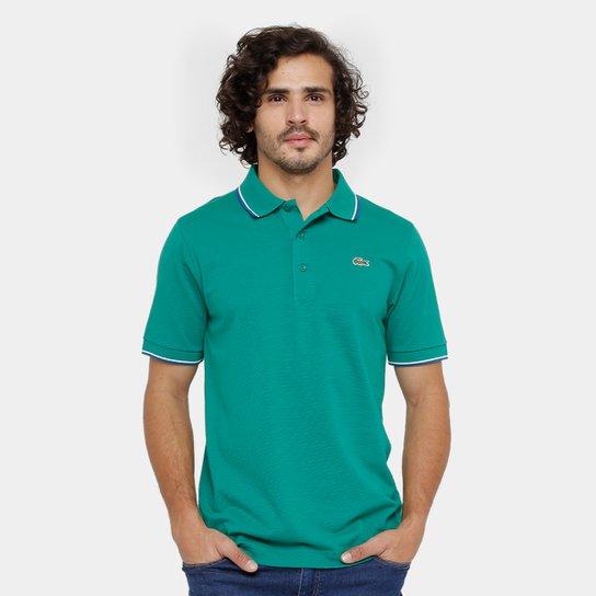 da0e189fcb889 Camisa Polo Lacoste Bordada Masculina - Verde - Compre Agora