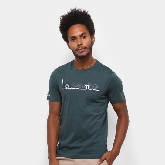 4b87419abb5c3 Camiseta Lacoste Regular Fit Masculina - Compre Agora   Netshoes