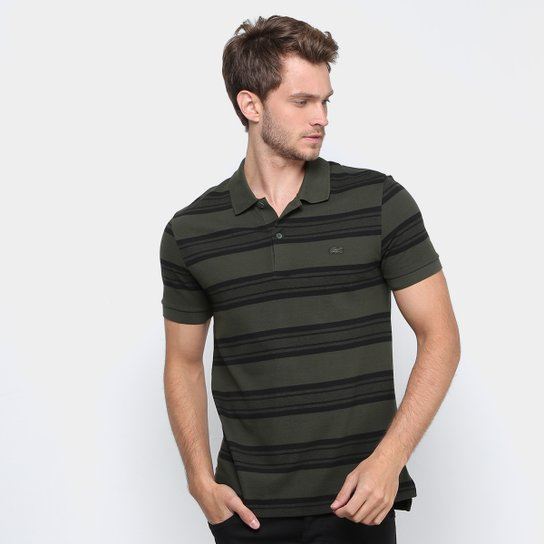 Camisa Polo Lacoste Piquet Regular Fit Listras Masculina - Compre ... 08ac73d33d