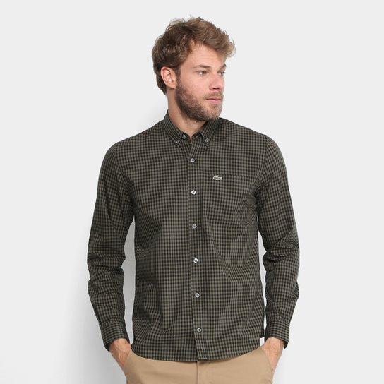 Camisa Xadrez Lacoste Vichy Masculina - Verde - Compre Agora   Netshoes 50b2f6a07c