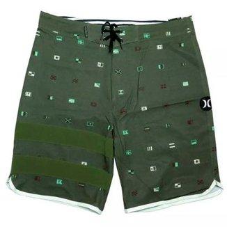 Bermuda Hurley Phanton Sea Worth Verde + Camisa Masculina 9530ded07bf