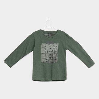 Camiseta Infantil Quimby Manga Longa Botonê Masculina 622f93a5114