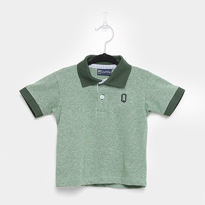 Camisa Polo Infantil Quimby Piquet Masculina