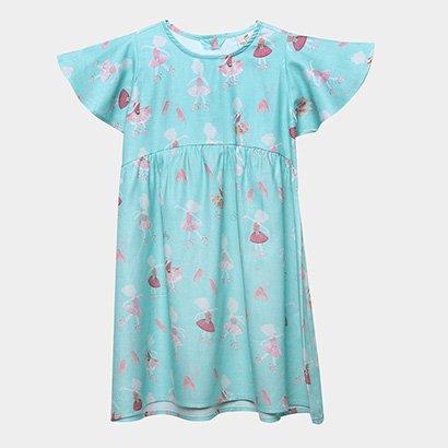 Vestido Infantil  Up Baby Estampado Feminino