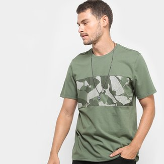 d042d26e0 Camiseta Burn Recorte Camuflado Sneakers Masculina