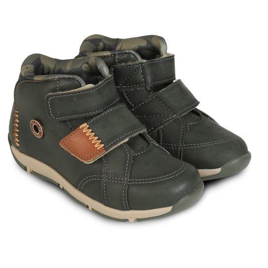 1161a0f8f2b Tênis Infantil Cano Alto Klin Outdoor 2 Velcros Masculino - Compre ...