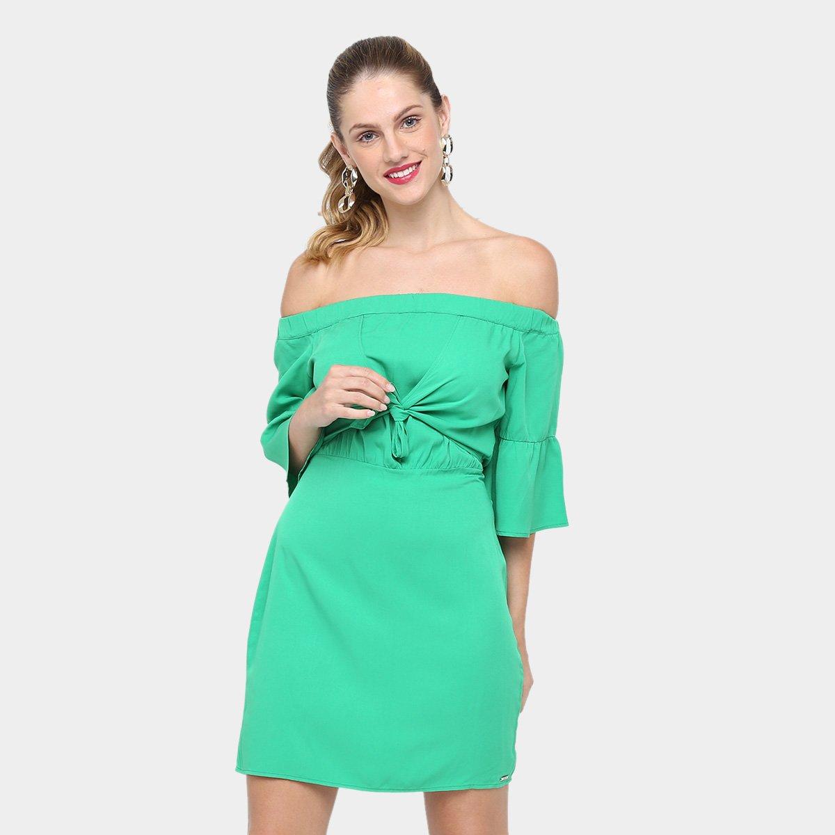 Vestido colcci curto slim verde