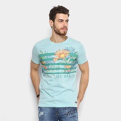 Camiseta Colcci Tropical Floral Masculina