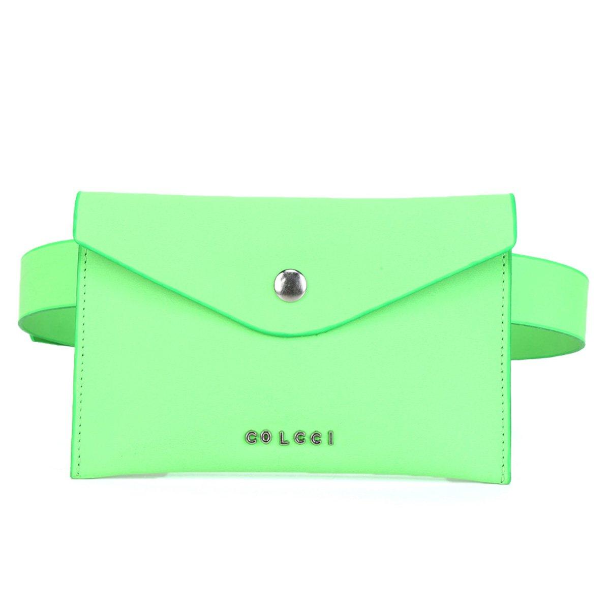 Pochete Colcci Belt Bag Envelope Neon Feminina