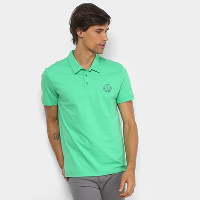 Camisa Polo Forum Malha Silk New Logo Masculina