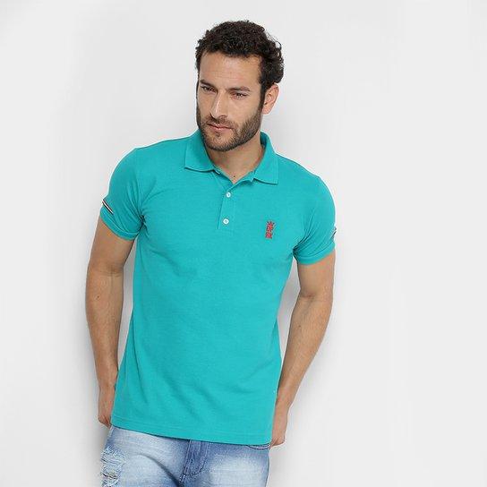 ... 651259d0fa3 Camisa Polo Opera Rock Piquet Bordado Masculina - Verde -  Compre . 987fb40c47a82