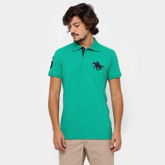 5cf686e99132a Camisa Polo RG 518 Piquet Básica Masculina - Verde água - Compre ...