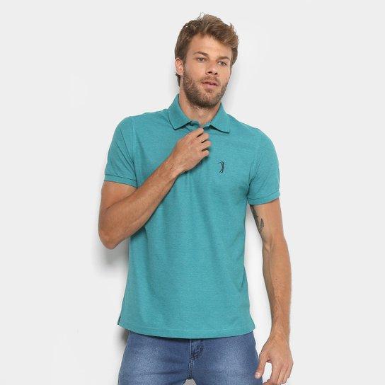 Camisa Polo Aleatory Piquet Color Logo Masculina - Verde - Compre ... a868b479bccdd