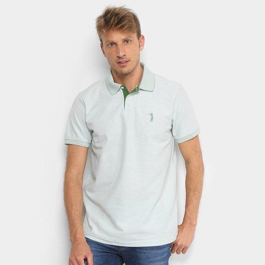 10fd8ca74a Camisa Polo Aleatory Piquet Listrada Masculina - Verde - Compre ...