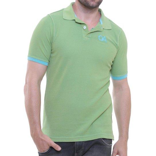 35cfd87969 Camisa Polo Oitavo Ato PA Malha Inglesa Lisa - Verde - Compre Agora ...