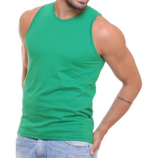 Camiseta Regata Masculina Oitavo Ato Lisa Básica Mescla - Verde ... b289c363357