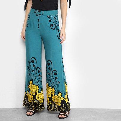 Calça Heli Pantalona Estampada Feminina