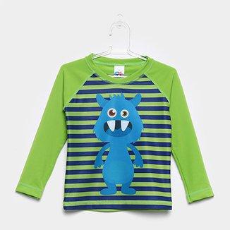 Camiseta Infantil Tip Top Praia Manga Longa Masculina 388eda53f3ca6