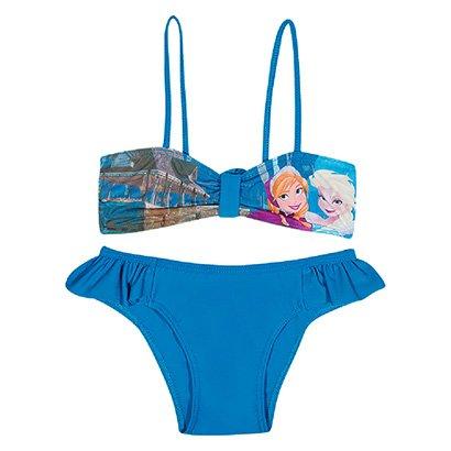 Biquini Infantil Tip Top Frozen Disney Feminino